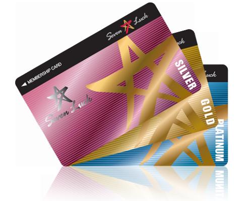 セブンラックカジノのメンバーシップカード