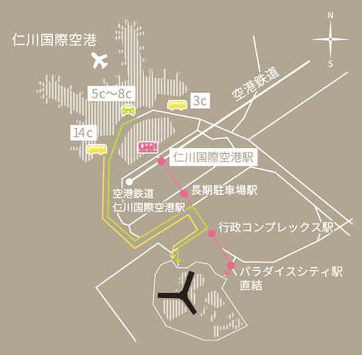 パラダイスシティの地図
