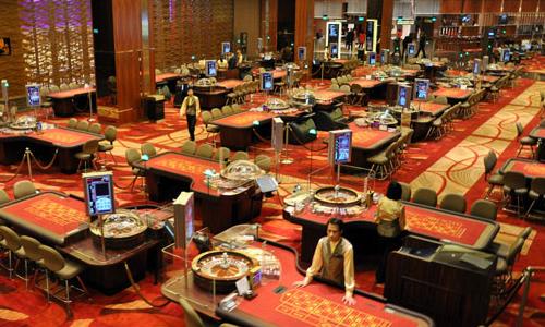 マリーナベイサンズ・カジノのテーブルゲームフロア