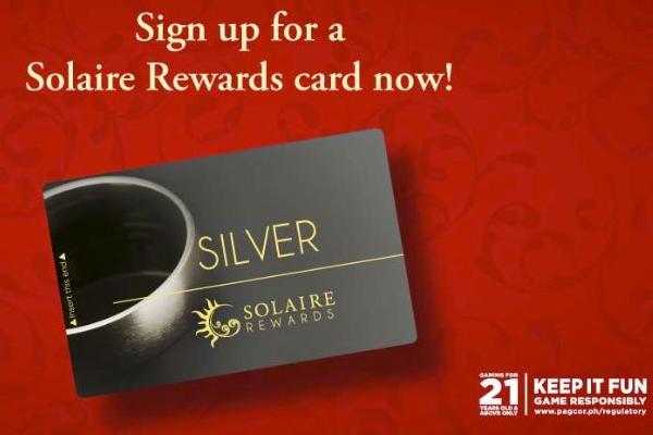 『THE SOLAIRE REWARDS』のメンバーズカード